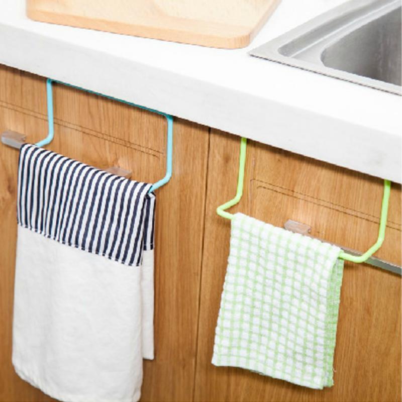Towel Rack Hanging Holder Organizer Bathroom Kitchen Cabinet Cupboard Holder YH-459462