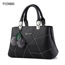 2019 Fashion Women Handbags PU Leather Tote Bag Top-handle Leaf&hair ball Women Crossbody Bags Shoulder Bag Ladies Hand Bags Hot 2016 women top handle bags genuine leather handbags fashion women shoulder bag female leather crossbody bag hot messenger bags