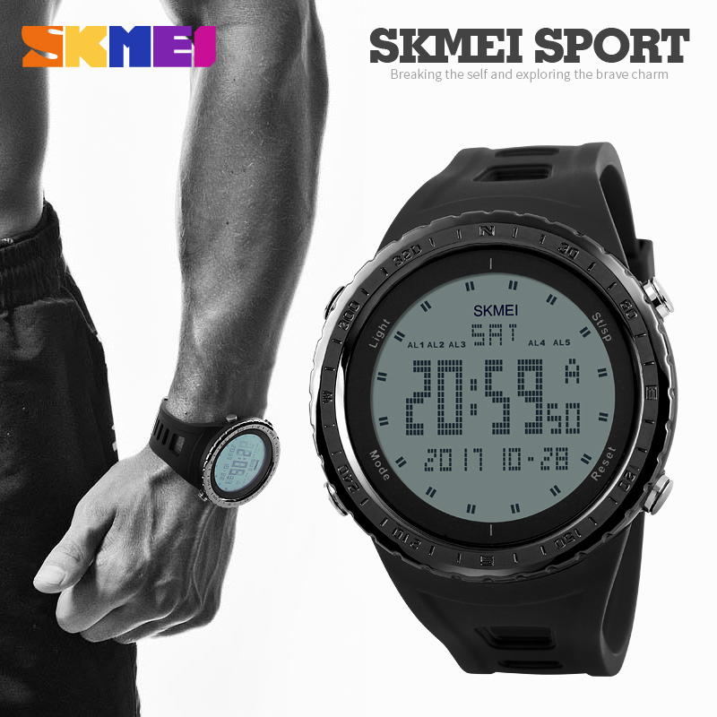 aliexpress com buy skmei 1246 men sports watches countdown chrono double time el light digital wristwatches 50m water resistant relogio masculino from
