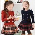 2016 oferta Especial da escola Das Meninas de estilo Inglaterra vestido plissado da Escócia
