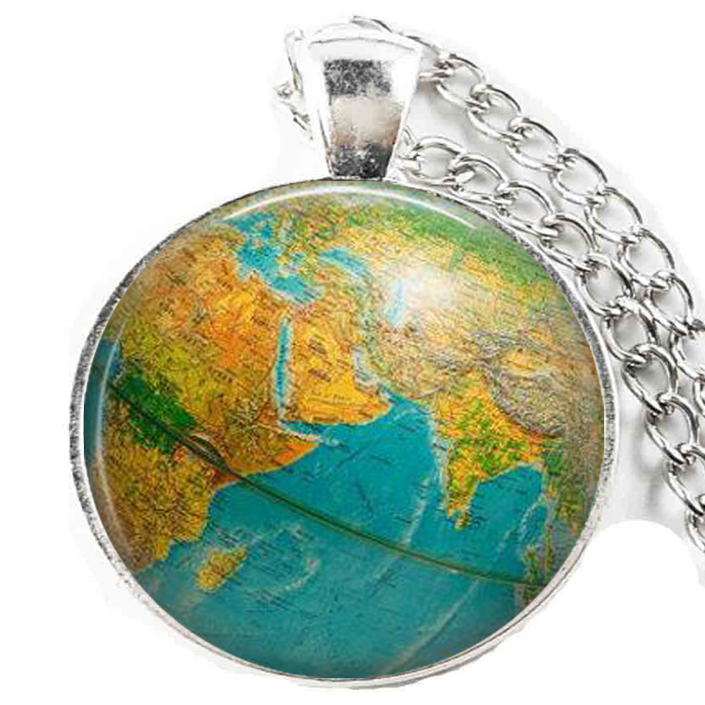 Aliexpress buy globe necklace earth globe pendant globe art aliexpress buy globe necklace earth globe pendant globe art pendant teacher gift world travel adventurer world map globe jewelry from reliable gumiabroncs Image collections