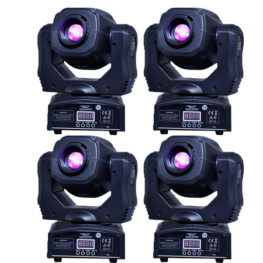 Mobile 60w LED tête mobile gobo lumière LED dmx 512 contrôle dj diso lumière principale mobile (4 pièces/lot)