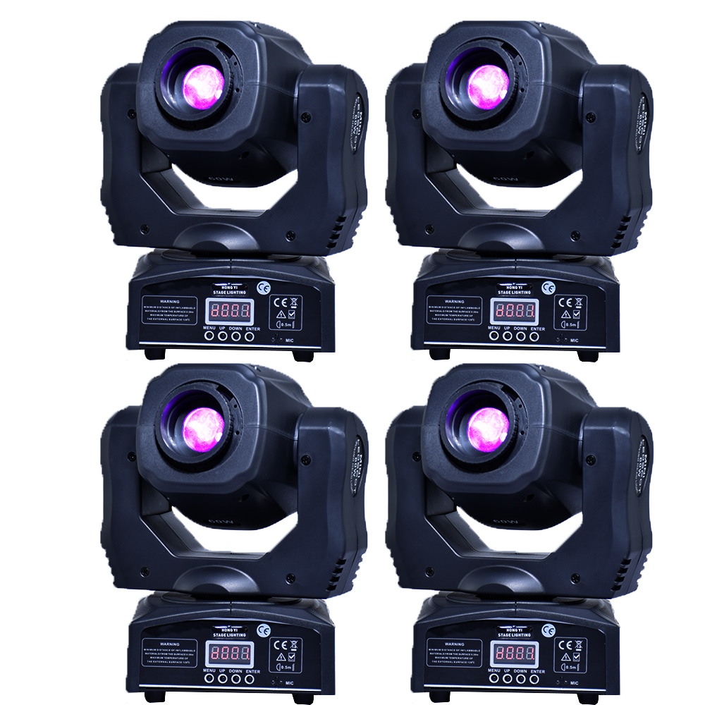 Moving 60 W Lampu LED Moving Head Gobo Lampu LED DMX 512 Kontrol DJ Diso Moving Head (4 Buah/Banyak)