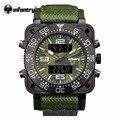 INFANTERÍA Hombres de Lujo Reloj De Cuarzo Japonés Camoufle Verde Militar Del Ejército Reloj Deportivo Digital Resistente Al Agua Relogio masculino