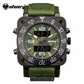 INFANTRY Mens Luxury Japanese Quartz Watch Camoufle Military Green Army Watch Relogio Masculino Water Resistant Digital Sports