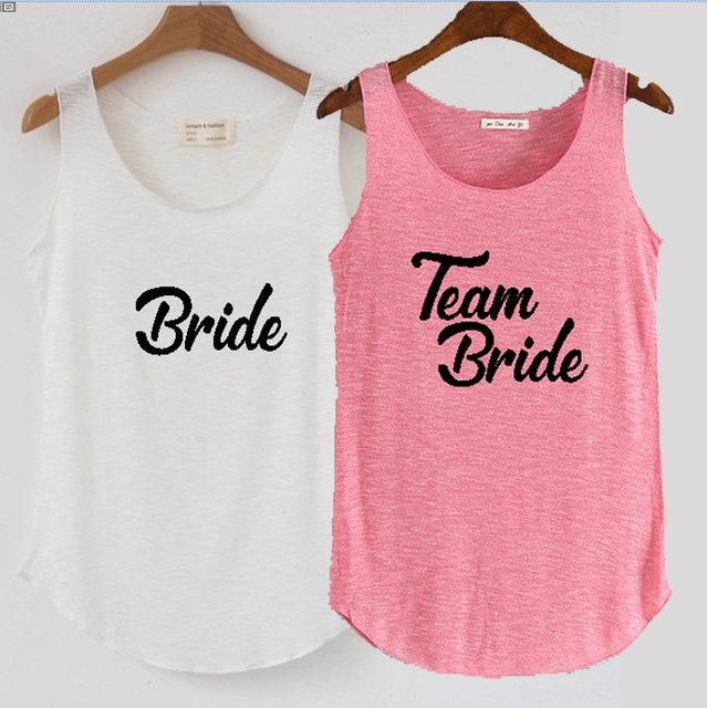 6f8da0b02c2 C Fung design Team Bride tanks Bride Shower sexy Shirts Bridesmaid Bridal  tee top Bach Bachelorette Party tank tops