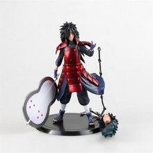 WVW 17CM Hot Sale Anime Heroes font b Naruto b font Uchiha Madara Model PVC Toy