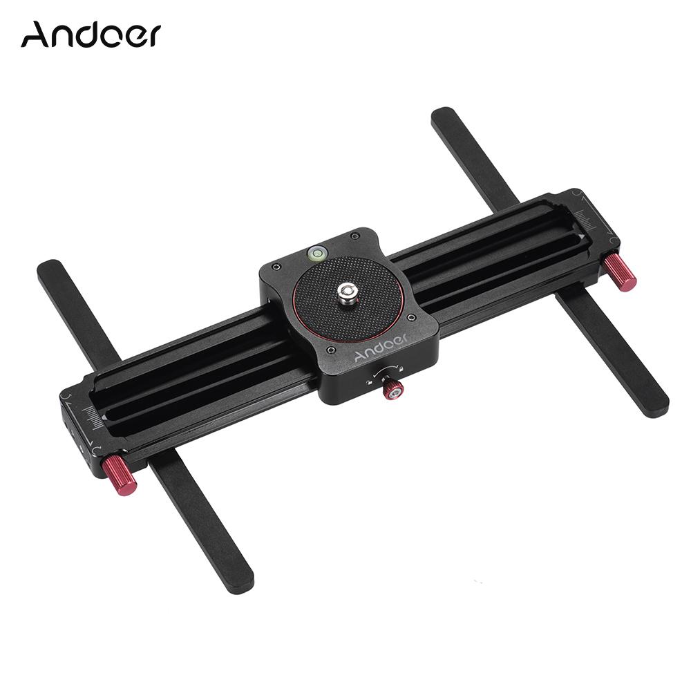 Prix pour Andoer GT-MN280 280mm Mini Manuel Piste Curseur Follow Focus Caméra Vidéo Curseur pour GoPro Camera Action Smartphone de Poche Caméra