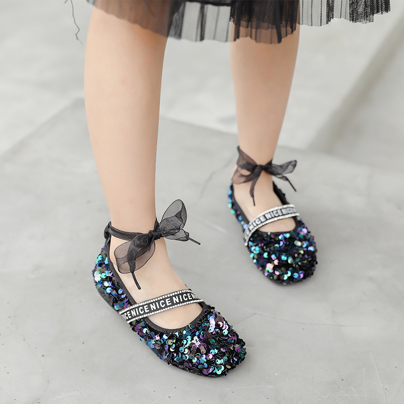 Toddler Sandals Girls Summer Pearl Bling Sequins Single Sneakers Princess Casual Shoes Sandals Infant Kids Baby Girl Sandals