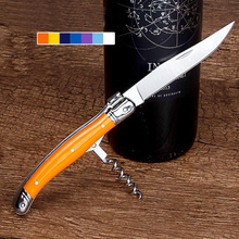 Hohe Qualität Holzgriff Professionelle Korkenzieher Folding Steak Messer Tragbare Edelstahl Korkenzieher Wein Messer w/Box Besonderes geschenk