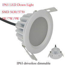 где купить 8pcs/lot) New Arrival 15W Waterproof IP65 Dimmable led downlight smd 15W dimming LED Spot light led ceiling lamp free shipping по лучшей цене