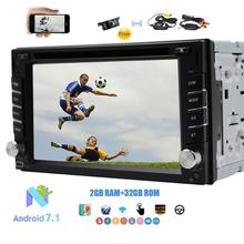 """Eincar 6.2"""" 2 Din Bluetooth Car Stereo Android 7.1 Octa-core Car DVD Player Car GPS Navigation Support BT/WIFI/AM+Backup Camera"""