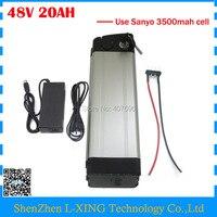 Free Customs Duty 48v 20ah Lithium Ion Battery 48V 1000W Battery Silver Fish Use NCR18650GA 3500mah