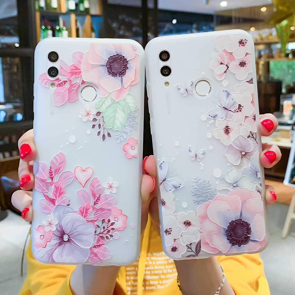 Caso de Huawei P30 P20 P10 P9 P8 Plus Lite 2017 Honor 6X7X9 10 Nova 2 3D alivio funda de silicona para Huawei Mate 10 20 Lite Pro