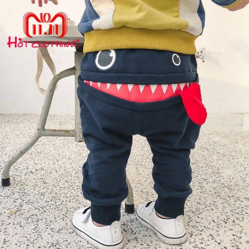 Cartoon Baby Pants Full Length Cotton Toddler Spring Harem Pants Newborn Casual Trousers Loose Infants Elastic Pants