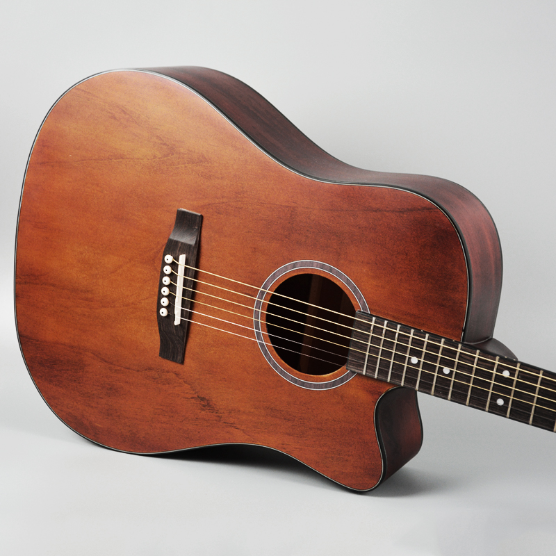 coffee color acoustic guitar can install pickups 41inch with bag free shipping ems in guitar. Black Bedroom Furniture Sets. Home Design Ideas