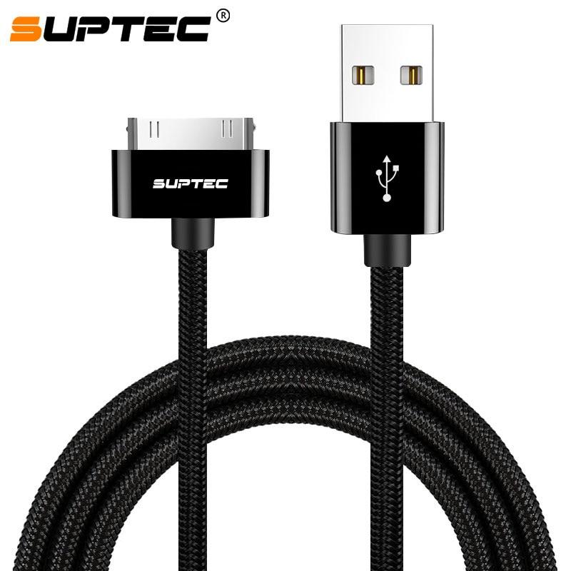 SUPTEC 2 м зарядный USB кабель для передачи данных для iPhone 4S 4 S 3GS iPad Mini 1 2 3 iPod Nano itouch Быстрый быстрой зарядки передачи и синхронизации данных с разъ...