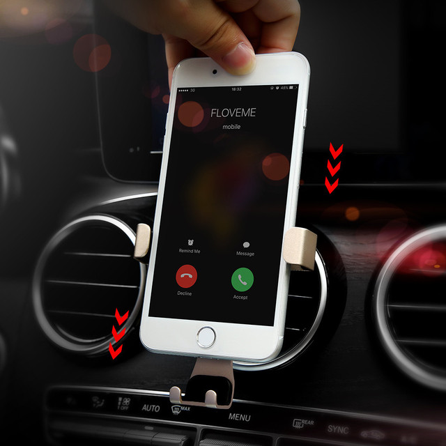 pour apple iphone 8 7 6 plus 5 t l phone support de voiture gravity air vent de voiture support. Black Bedroom Furniture Sets. Home Design Ideas