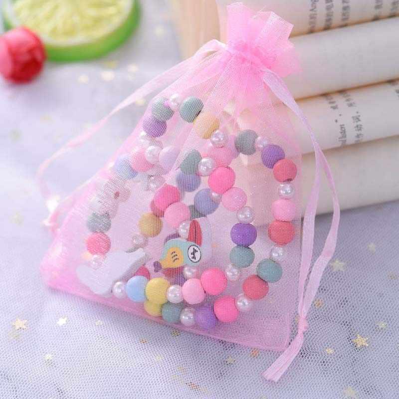 3pcs Animale Sveglio Del Fiore Del Fumetto Del Fiore del maglione Dei Bambini del braccialetto per il regalo dei bambini cp2650