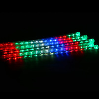 6 Colors 50CM Meteor Shower Rain 8 Tubes Waterproof Bright LED Lights Outdoor Christmas Festival Decoration