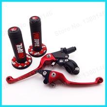 Мягкие резиновые рукоятки для рук Pit Dirt Bike+ красный ASV складные сцепные рычаги MX мотокросса TTR