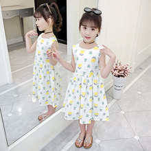 Girls Summer Dress Cotton Elegant Kids Dress Sleeveless Princess Party Dresses for Girls 4 6 8 10 12 13 Years Children Clothes princess lace dresses for girls long sleeve ruffles dresses infant vestidos children clothes 4 6 8 10 12 years kids formal dress