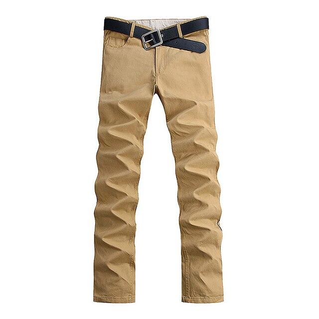 2016 Новая Мода мужчин брюки хлопок промывают случайные штаны мужчины прямые брюки 6 цветов плюс размер 28 ~ 40 одежда