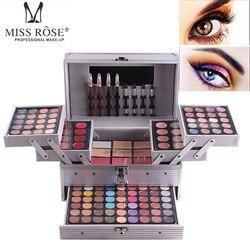 Набор для макияжа, полный Профессиональный набор для макияжа, коробка для косметики для женщин, 190 цветов, женские наборы для макияжа