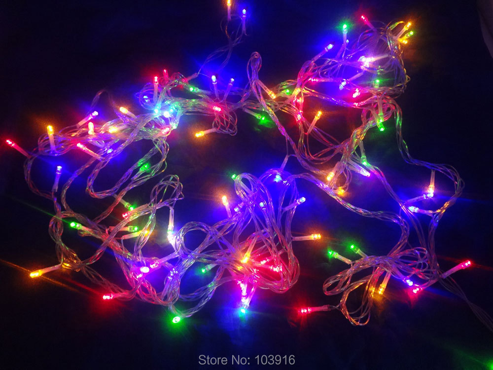 220v with AU plug Waterproof 10M 100LED Christmas string light RGB mixed color LED bulbs for Christmas fairy party