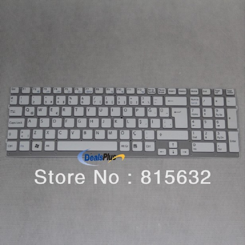 Laptop Keyboard For Sony Vpc-Eb White(Without Frame) TR(Q)-Turkish KEYBOARD -148793531