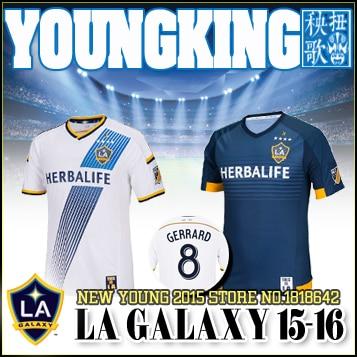 2016 LA Galaxy Soccer jersey 15 16 Major League Soccer LA Galaxy 5 star  HOME player version AWAY BLUE football shirt GERRARD 8329ebebe