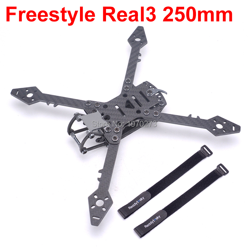 Freestyle Real3 250mm 250 Wheelbase 4mm Arm Carbon Fiber Frame Kit for RC Drone FPV Racing Multirotor Quad DIY Spare Parts Accs