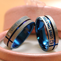 """Fashion Jewelry 316L Stainless Steel Simple Circle """"Love Only You"""" Couple Rings,Wedding Ring,Engagement Rings BR003"""