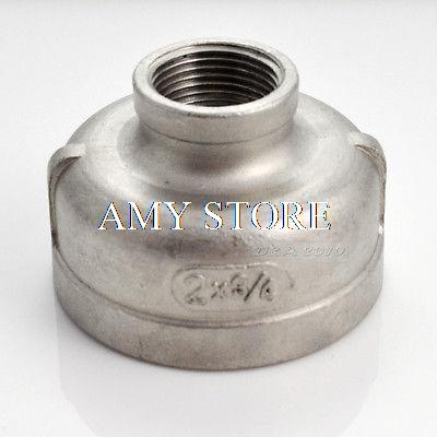 Nipple 2 x 3/4 Female Stainless Steel 304 Threaded Reducer Pipe Fitting BSP 1 2 x 1 2 threaded 90 angle elbow pipe fitting connector nipple