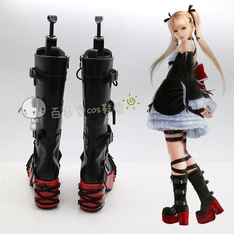 Game Dead or Alive 5 Marie Rose Cosplay Shoes Anime Party Boots Tailor-Made
