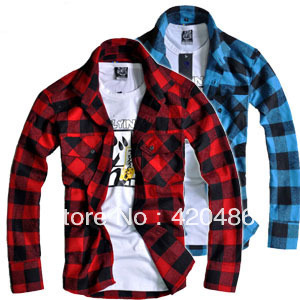 Popular flannel woven buy cheap flannel woven lots from for Mens warm flannel shirts