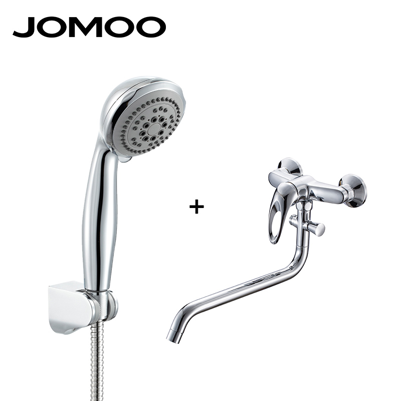 JOMOO Bathroom Shower Set With Stainless Steel Shower Hose and Wall Bracket and Bathroom Mixer Shower Faucet Hand Shower lllt 650nm laser hair care comb for hair regrowth head massage