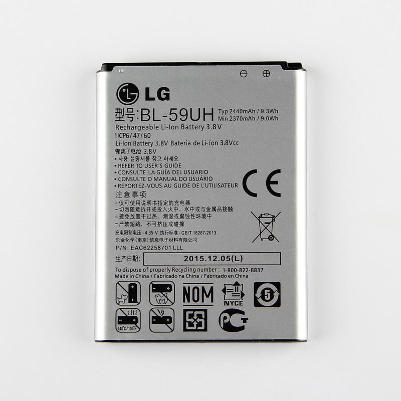 New Original <font><b>LG</b></font> G2 mini <font><b>Battery</b></font> FOR <font><b>LG</b></font> G2mini D618 D620 D620R D620K <font><b>D410</b></font> D315 F70 Bateria BL-59UH 2440mAh BL59UH