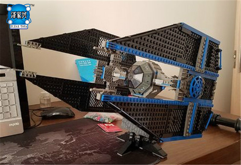 New 703pcs Lepins Star Stunning Model Wars Limited Edition The TIE Interceptor Building Blocks Bricks Toys Boys Gifts new mf8 eitan s star icosaix radiolarian puzzle magic cube black and primary limited edition very challenging welcome to buy