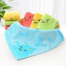 28,5*26 см, Мультяшные животные, кот, примечание, узор, одноцветные квадратные носовые платки, полотенце для мытья лица для малышей, детей, детей, FS0588