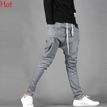 2018 Top caliente moda Harem pantalones hombres Casual pantalones Mans Baggy  Cargo Joggers pantalones hip- 979a782b6676