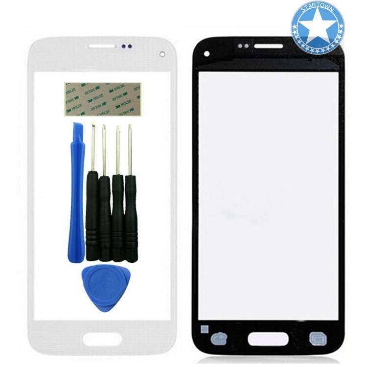 White <font><b>Replacement</b></font> Front <font><b>Glass</b></font> Outer top <font><b>Glass</b></font> Lens Screen For <font><b>Samsung</b></font> <font><b>Galaxy</b></font> <font><b>S5</b></font> Mini G870A SM-G800 G800F G800H +Tools+Adhesive image
