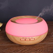 300ML Aroma Diffuser with Colorful LED Night Light Wood Grain Ultrasonic Air Humidifier Essential Oil Aromatherapy Mist Maker 300ml colorful led timing ultrasonic wood grain base aromatherapy machine air humidifier aerosol dispenser diffuser 2 colors
