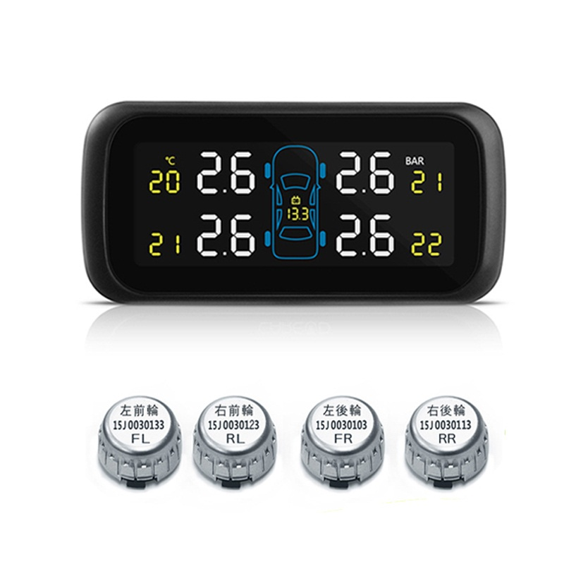 TPMS LCD Color Display Auto Car Tire Tyre Pressure Monitor System Pressure Gauge External Sensors brand new promotion inctpms ext01 tpms lcd auto car tire tyre pressure monitor monitoring system pressure gauge with 4 sensors