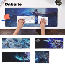 Babaite Non Slip PC League of Legends ashe Locking Edge Mouse Pad Game Free Shipping Large Keyboards Mat