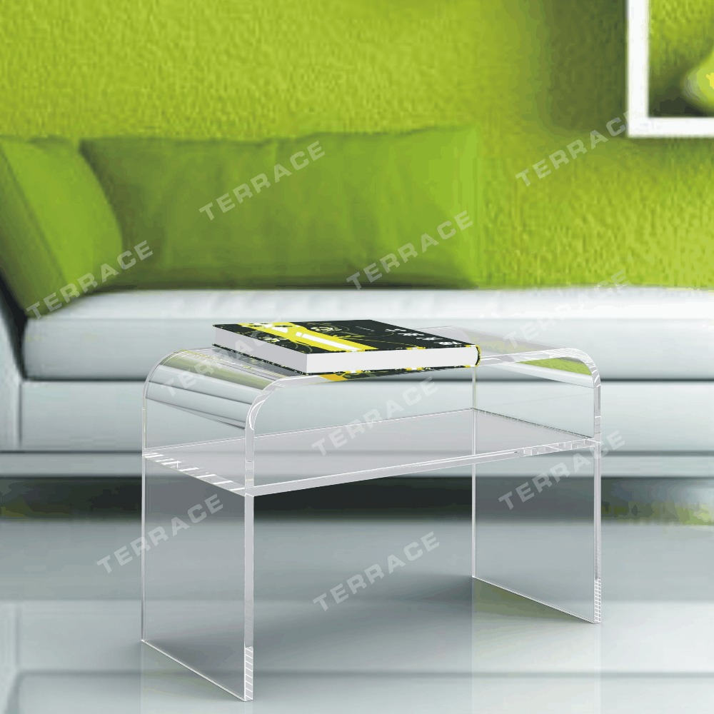 Lucite Acrylic Coffee Tea Table,Waterfall accent magazine tables one lux waterfall acrylic lucite lounge sofa table plexiglass waiting room magazine side coffee corner tables