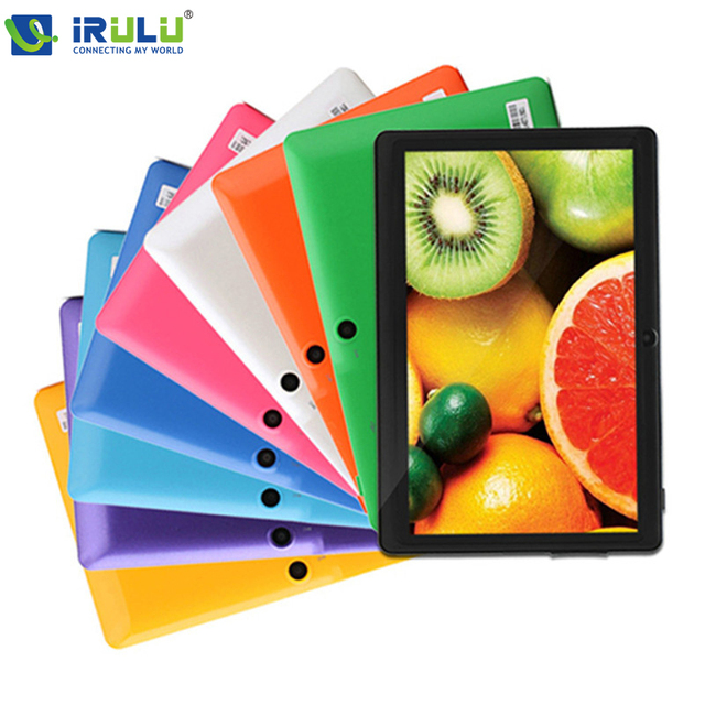 "iRULU eXpro X1 7"" Tablet PC 8GB Android4.4 Google GMS Tested Quad Core 1024*600 Dual Camera Support WIFI 2016 Hottest W/Earphone"
