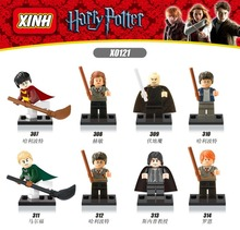 Hot X0121 Building font b Blocks b font Harry Potter Minifigures Hermione Granger Ron Weasley Lord