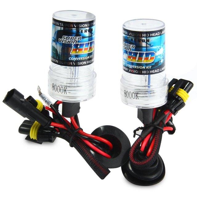 Auto Headlamp External Lights 1Pair 8000K Warm White 12V 35W Slim Ballast Xenon HID Kit Light Bulb Car Headlight H1 for Vehicle