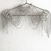 Свадебное ожерелье на ремне, роскошные свадебные украшения, кружевное ожерелье с кристаллами, свадебные аксессуары, женские плечевые цепочки 2020